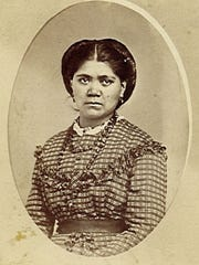This portrait shows Kate Camden as a young woman, circa 1865-70.