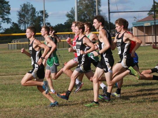 Lebanon High School cross country runner Robert Muse-Myers