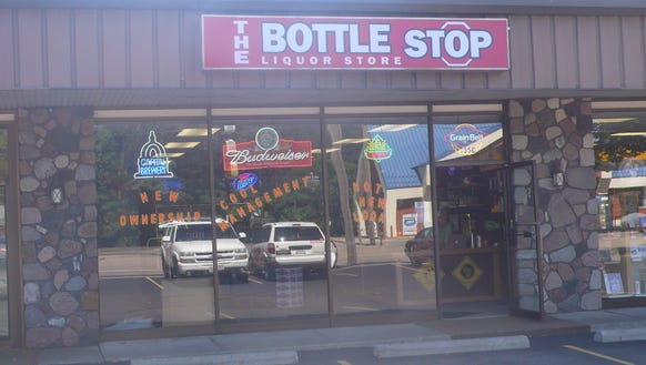 The Bottle Stop, pictured back during its opening in