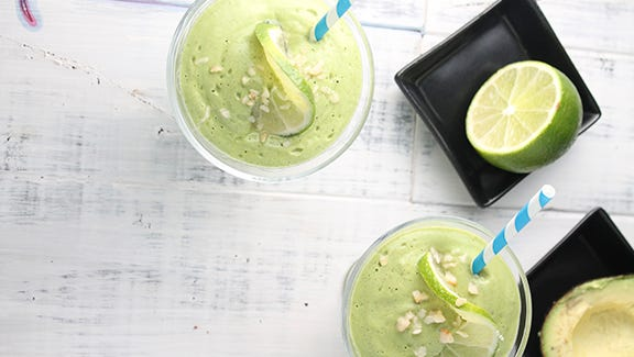 The Paleo Key Lime Pie Smoothie features chia seeds, an abundant source of fiber and omega 3â??s.