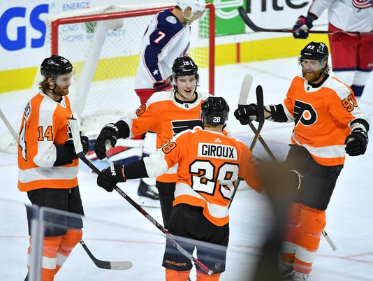 NHL: Columbus Blue Jackets at Philadelphia Flyers