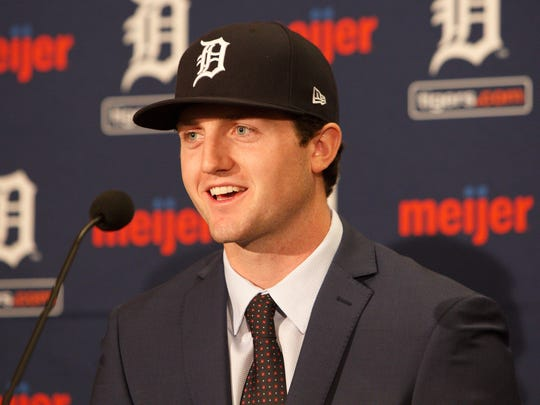 Casey Mize, the first overall pick in the MLB draft,