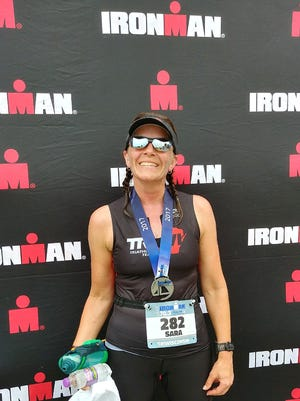 Sara Hankes completed IRONMAN Wisconsin after doing well at the Half IRONMAN Racine (pictured here) earlier this summer.