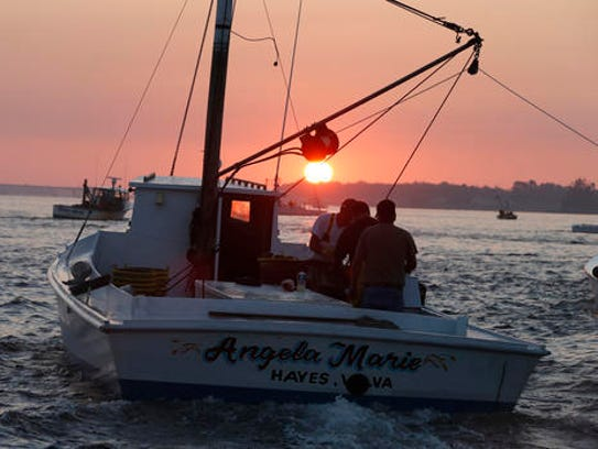 In this Thursday Oct. 8, 2015 file photo, oyster boats
