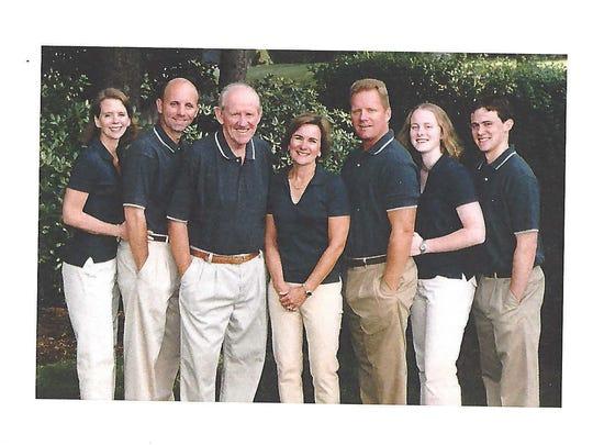 The McDonough family poses prior to Will McDonough's