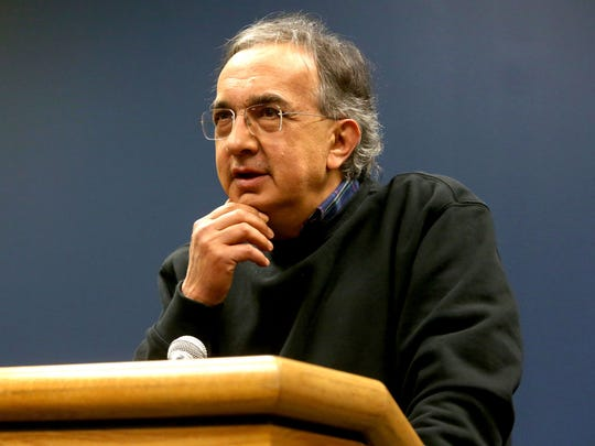 Sergio Marchionne, the chairman and CEO of Fiat Chrysler Automobiles (FCA) talks about Google and the role it will play in the Chrysler Pacifica at the FCA Windsor Assembly Plant in Windsor, Ontario on Friday, May 6, 2016.