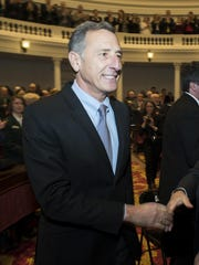 In this Jan. 7, 2016, file photo, Gov. Peter Shumlin,