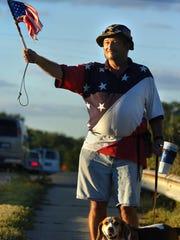 Vietnam War veteran Colin Campbell of Haslett holds