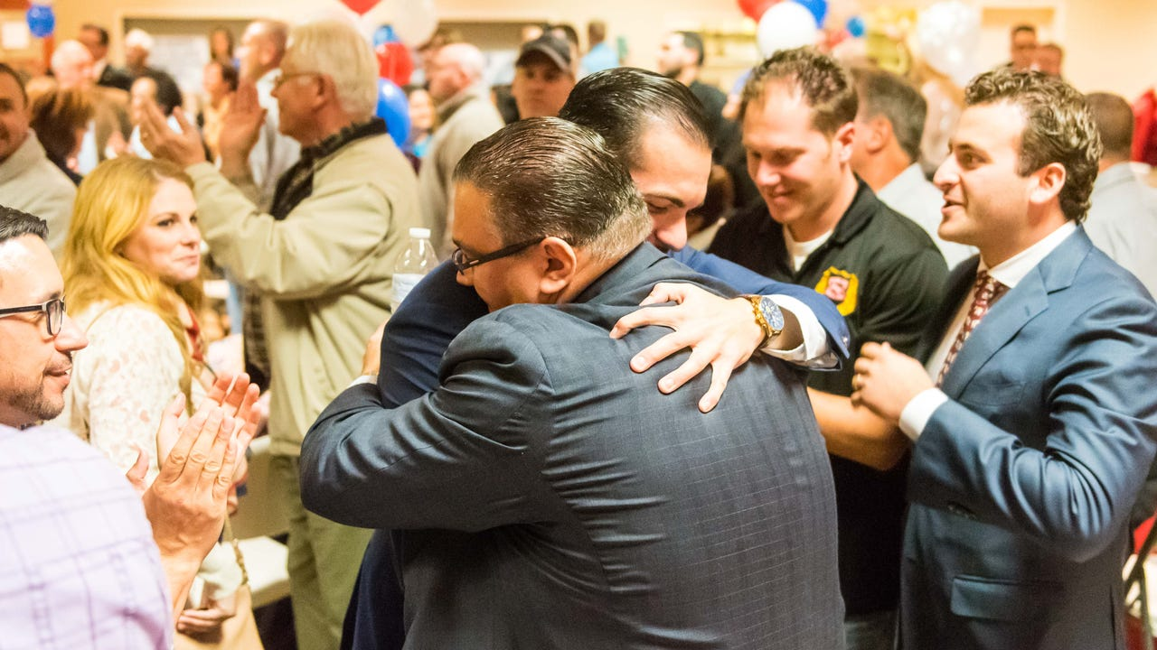 Waiting late into Tuesday night for results of the Vineland mayoral election, Anthony Fanucci gives his immediate reaction to what looks to be a sweep in the three-way race.