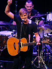 Levi Hummon performs at the Ryman Auditorium Friday