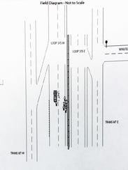 A diagram from the El Paso Police Department's traffic