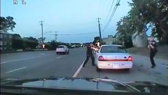 Officer Jeronimo Yanez's dashboard camera image on