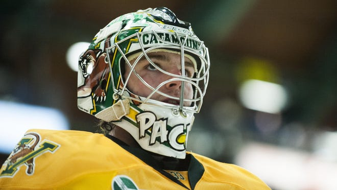 Catamount goalie Packy Munson will be a key figure in this weekend's series at Merrimack.