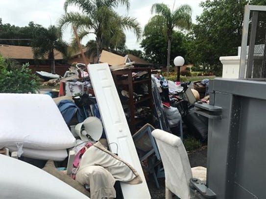 Belongings from residents at Royal Woods off Island