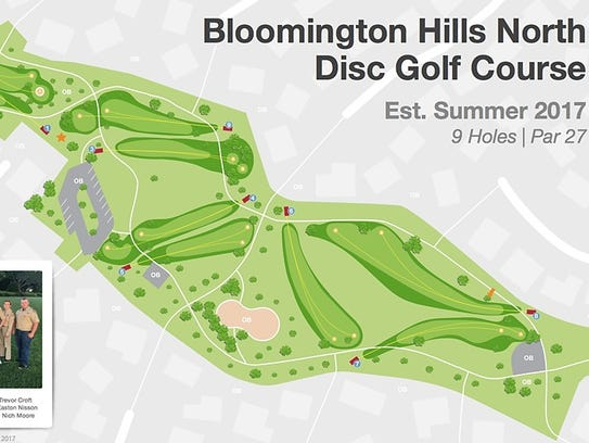 A layout of the new 18-hole disc golf course that was