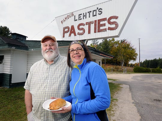 Bill and Laurie Walker own of Lehto's Pasties in St. Ignace on US-2 just outside St. Ignace in the Upper Peninsula.