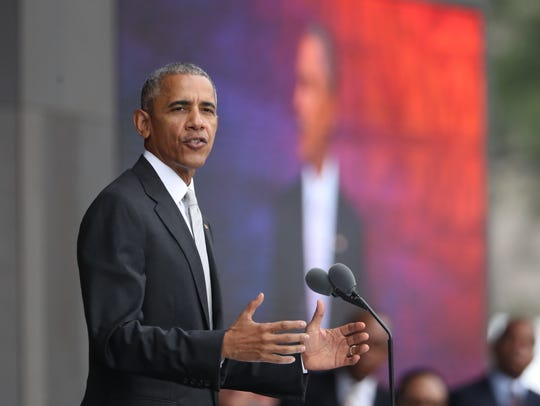President Barack Obama speaks during the opening ceremony