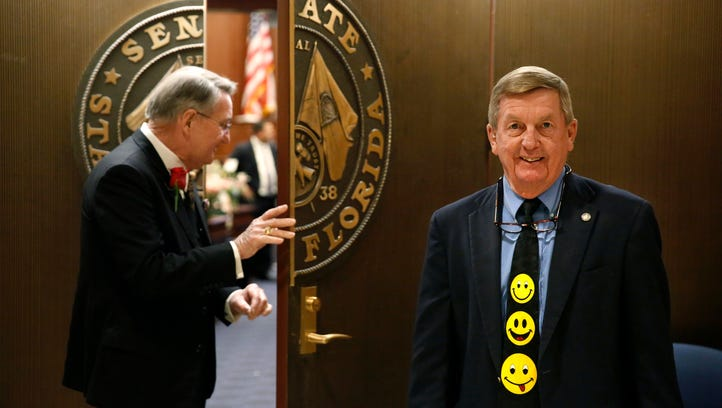 Making an exit: Capitol character retires after guarding Senate chamber doors for 33 years