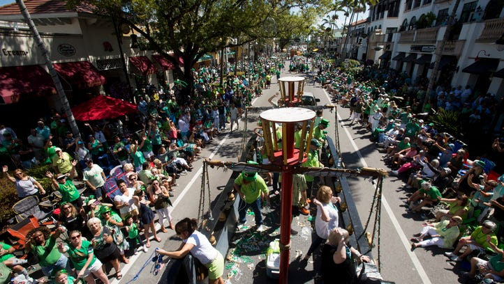 St. Patrick's Day Parade in Naples draws green-clad crowd of 40,000, organizers say