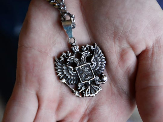 Clay Celli's Russian necklace.