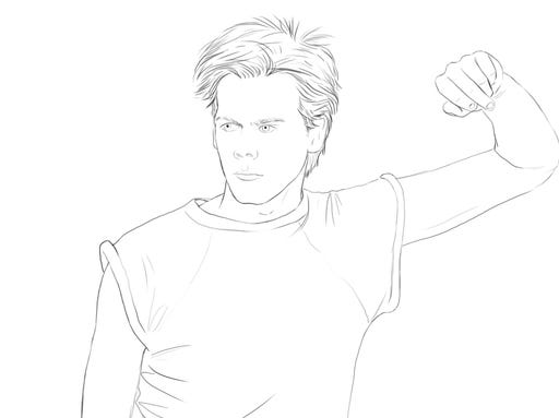 Bacon Coloring Page Kevin Bacon in 39 Color