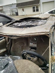 The car, a 2002 Chrysler Concord, was totaled after