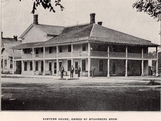 Eastern House Hotel was at the northeast corner of