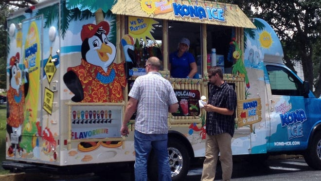 """The gourmet food trucks from Kona Food Trucks Luaus will visit Cape Canaveral for """"Street Eats on Taylor Avenue"""" from 5 to 9 p.m. July 11."""