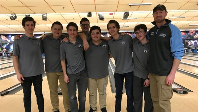 The Mahwah boys bowling team captured the 2017-18 Big North Patriot championship with a 54-2 points record in the division.