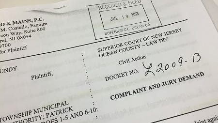 Brick's Municipal Utilities Authority closed this lawsuit last month, agreeing to pay a former employee $250,000.