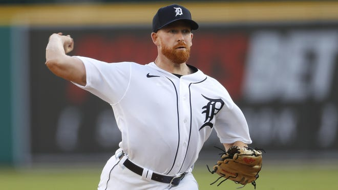 Detroit Tigers pitcher Spencer Turnbull throws against the Cincinnati Reds in the second inning of a baseball game in Detroit, Friday, July 31, 2020.