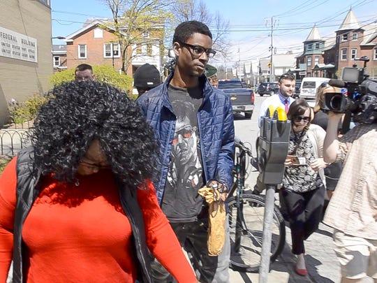 Josiah Leach leaves U.S. District Court in Burlington on Thursday, April 27, 2017.  Leach is accused of making the death threats that shut down South Burlington High School for several days.