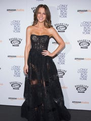 """Kate Beckinsale attends """"The Only Living Boy in New York"""" premiere at the Museum of Modern Art on Monday, Aug. 7, 2017, in New York."""