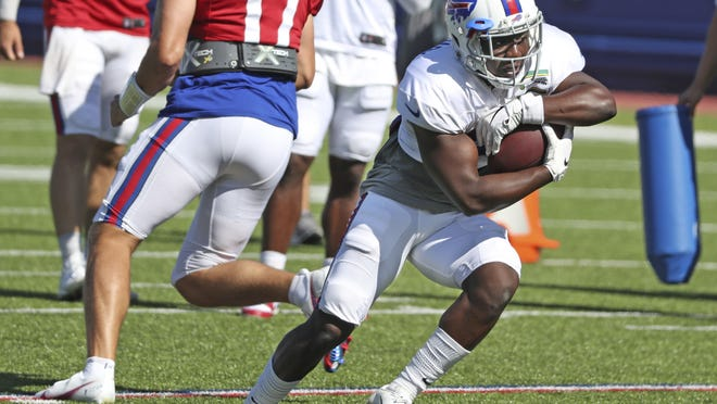 Running back Devin Singletary took the advice from veteran Frank Gore last season to heart, showing up for camp this year in better shape and hungrier than ever to prove he can contribute even more for the Bills.