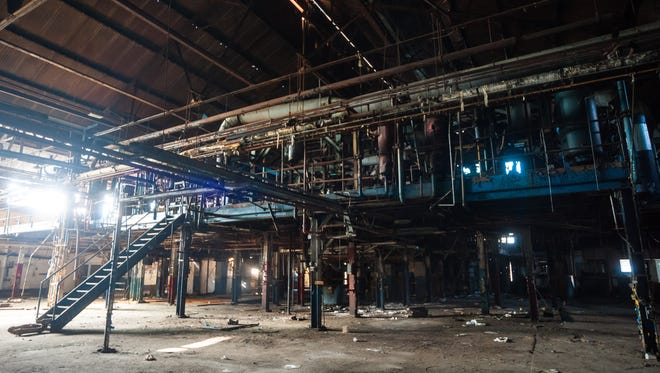 Glass making equipment in vacant buildings at Wheaton Glass Company in Millville on Thursday, December 28.