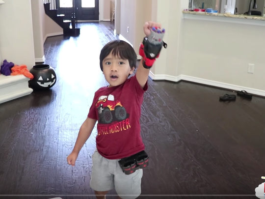 Ryan, the 5-year-old star of the Ryan ToysReview channel on YouTube, one of the most viewed channels. Ryan's parents haven't given out his last name