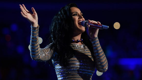 Katy Perry performs during the 2016 Democratic National
