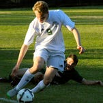 Sophomore Will Adcock from Captain Shreve steals the ball from Central Lafourche in boys high school soccer on Thursday at Centenary College in Shreveport.