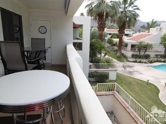 The view from the balcony of a second-floor condo in South Palm Springs. The property asks $289,000.