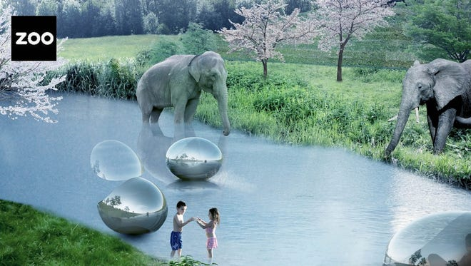 A rendering of the future Givskud Zoo in Denmark.