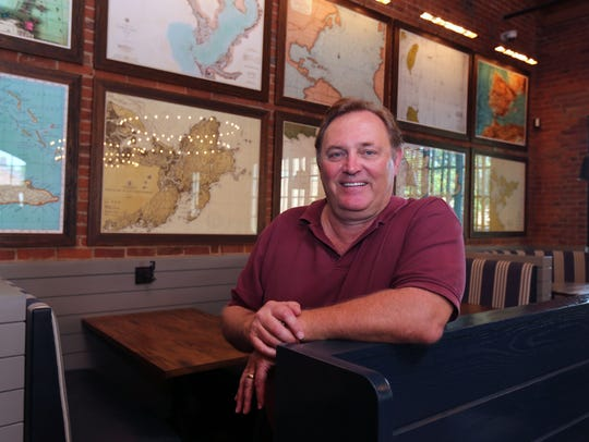 Owner Les Barnes is pictured in the dining room at