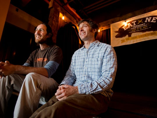 From left, brothers Benjy and Jonny Adler, co-founders and owners of The Skinny Pancake, have cooked up a massive weekend of local food and music. Eat by Northeast starts today in Burlington's Oakledge Park.