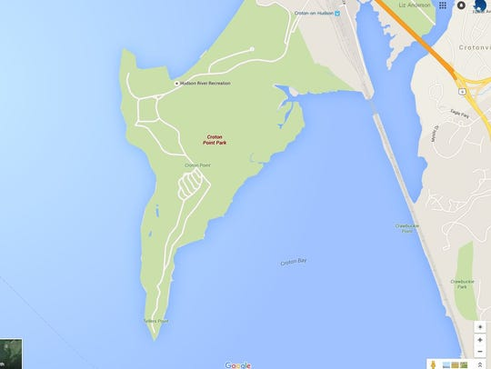 A map shows the southern tip of Croton Point where