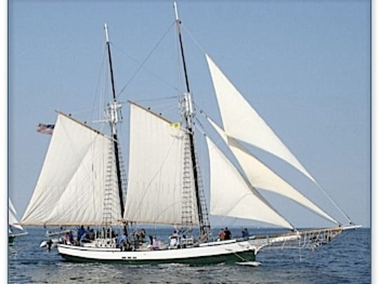 The Madeline, a historical-style schooner built by