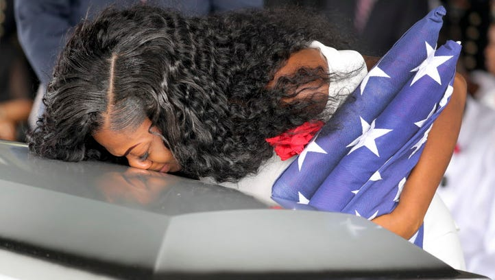 Myeshia Johnson, the widwo of Army Sgt. La David Johnson,