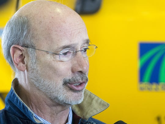 Gov. Tom Wolf visits PennDOT in Manchester Township