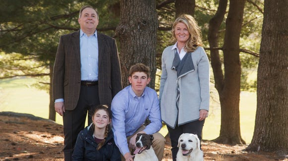 Republican U.S. Senate candidate Wendy Long with her husband, Arthur, daughter, Mado, and son, Arthur.