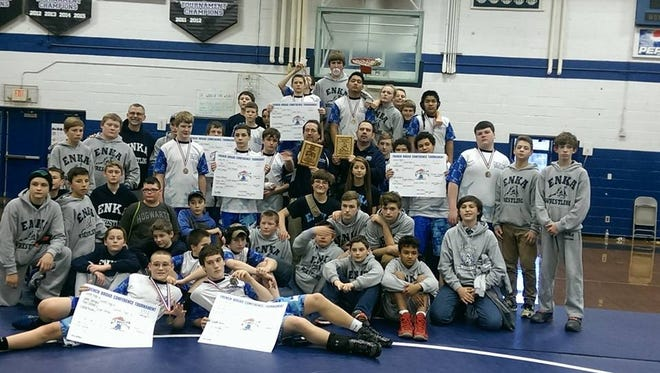 Enka Middle School won Saturday's N.C. USA Wrestling Elementary and Junior High State Championships tournament for the first time on Saturday.
