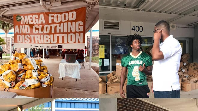 Lincoln High School Trojans Football team made their way out in to the community by helping Second Harvest and Truth Gatherers Dream Center.  The members of the football team served many people in the community, who were in need of food and basic supplies.