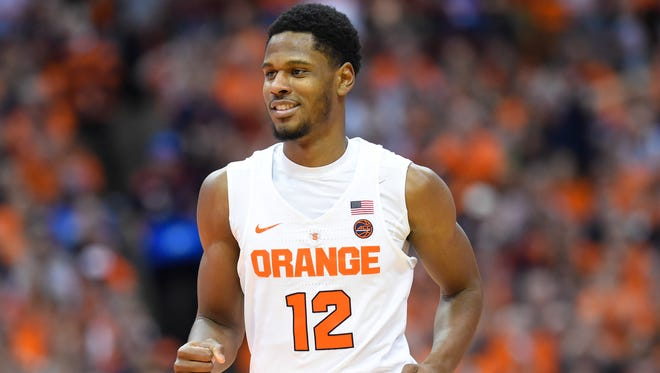 Taurean Thompson averaged 9.2 points in 21 starts and 34 games overall as a freshman last year for Syracuse.